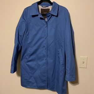 Coach Signature Blue Sateen Trench Coat